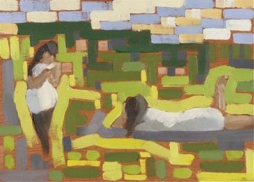 """Asian Girls - 6x8"""" - Oil on panel"""