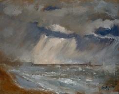 "Brighton Storm - 16x20"" - Oil on canvas"