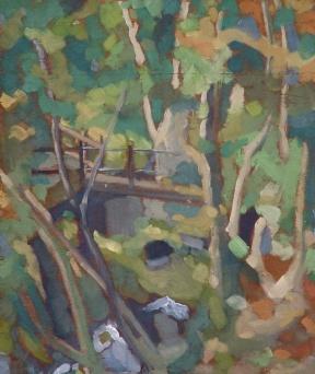 "Corris Nature Trail - 10x12"" - Oil on panel"
