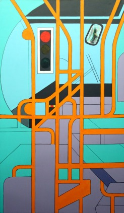 "Day Bus - 62x36"" - Acrylic on canvas"