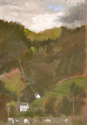 "Mach Hills - 6x8"" - Oil on panel"
