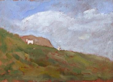 "Mach Sheep 2 - 6x8"" - Oil on panel"