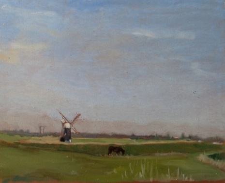 "Marsh Mill - 10x12"" - Oil on panel"