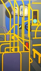 "Night Bus - 62x36"" - Acrylic on canvas"