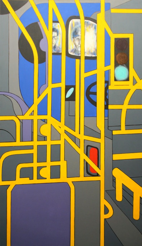 "Night Bus - 62x36"" - Acrylic on canvas"