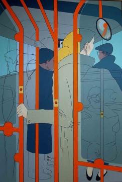 "Passengers - 62x42"" - Acrylic on canvas"