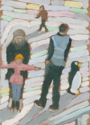 """Penguin - 6x8"""" - Oil on panel"""