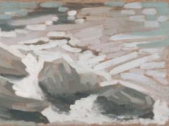 "River Rocks 1 - 6x8"" - Oil on panel"