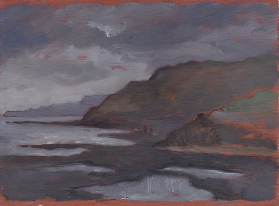Scarborough Cliffs - 6x8 - Oil on panel.
