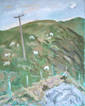 """Staylittle Sheep - 16x20"""" - Oil on canvasl"""