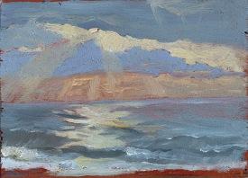"""Sun Sea Sand - 6x8"""" - Oil on panel"""