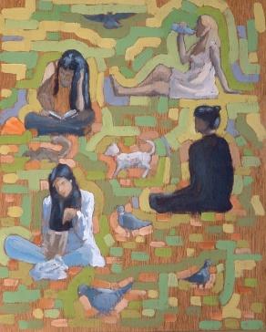 "Sunshine Students - 10x12"" - Oil on panel"