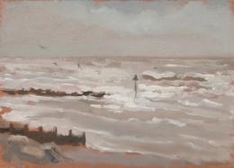 "Tywyn Beach - 6x8"" - Oil on panel"