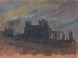 "Whitby Abbey - 6x8"" - Oil on panel."