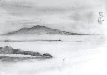 """Leaving Dublin 1 (12x16"""")m Pencil"""